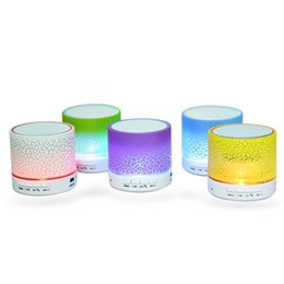 Wholesale Led Wireless Speakers - A9 New LED Wireless Speaker Portable Mini Bluetooth Speakers With Smart Bulb Support TF Card USB For IPhone Samsung Xiaomi MP3 L-YX