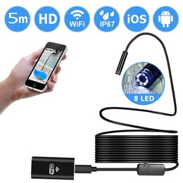 Wholesale Camera High Definition - 2017 new WIFI mobile phone endoscope high-definition waterproof for 5M Android Apple universal endoscope Camera