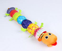 Wholesale Stuffed Animal Caterpillars - 2017 high quality. The new 65 cm soft Baby Toys himself to stuff Caterpillar with Ring Bell express Cartoon Animal Plush creative Doll Early