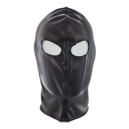 Wholesale Gimp Leather - Top Grade Party Masquerade Masks Leather Gimp Dog Puppy Hood Full Mask Mouth Gag Costume Party Mask Zipped Muzzel Sexy Toy For Adults