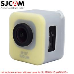 Wholesale Translucent Material - Wholesale- Original SJCAM M10 Series Soft Silicone Case Translucent Protective Cover for SJCAM M10 M10 Wifi M10+ Plus Sports Action Camera