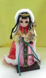 2019 porcelaine poupées à la main Q version de Beijing adorable bébé quatre poupées de costume de soie à la main spécialité de la Chine caractéristique de la décoration de Beijing porcelaine poupées à la main pas cher