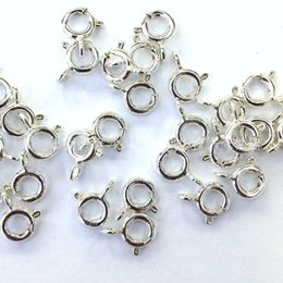 Wholesale Stamped 925 Sterling Silver Necklace - 8mm 925 Sterling Silver Jewelry Accessories Necklace Bracelet Lobster Clasps Hooks Connector Charms with 925 Stamp