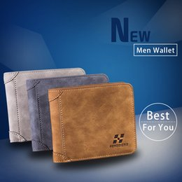 Wholesale Wholesale Faux Rock - Hot Sale Vintage Small Male Wallet Men Leather Wallets Short Purse Male Card Case Pocket Coin Purse Solid Card Holders Carteira Masculina