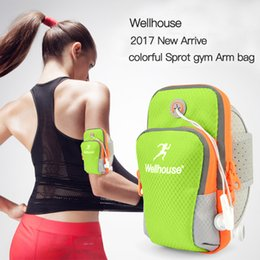 Wholesale Baseball Phone Covers - Wholesale- Waterproof Gym Running Accessories Sport Arm Bags Backpack Female Phone Cover Running Wrist Belt Case For Phone Bags Designer