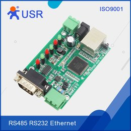 Wholesale Rs232 Serial Converter - Wholesale- Q030 USR-TCP232-410S-PCBA Serial RS232 to Lan Server RS485 to RJ45 Etherent  TCP IP Converter Modbus with DHCP and DNS