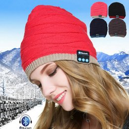 Wholesale Original Hats Wholesale - 100% Original Soft Warm Beanie Hat Wireless Bluetooth Smart Cap Headset Headphone Speaker Mic Stereo Bluetooth Hat with Mic with retail box