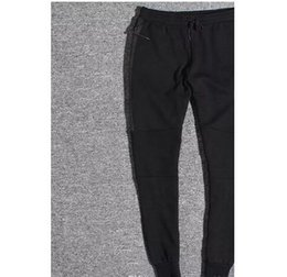 Wholesale Trousers Colors - Hot Tech Fleece Sport Pants Space Cotton Trousers Men Tracksuit Bottoms Man Jogger Tech Fleece Camo Running pant 2 Colors