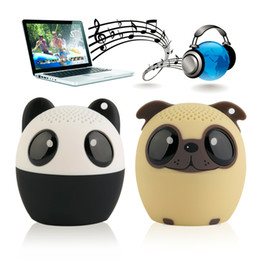 Wholesale Usb Voice Sound - Bluetooth Speakers Wireless Cute Animal panda dog Sound Speaker Portable Clear Voice Audio Player TF Card USB for Mobile PC