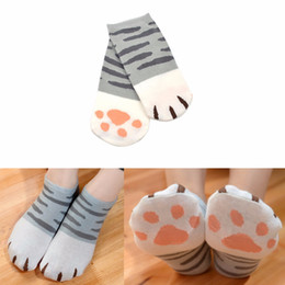Acheter en ligne Mignonne fille cosplay-Grossiste-Mode Filles Cute Cat Griffe Style Fashion Novelty Cat Griffe Short Chaussette Atsume Cosplay Props Harajuku Cartoon Chaussettes Femme