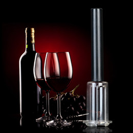 Wholesale Pump Wine Opener - New Arrival Top Quality Red Wine Opener Air Pressure Stainless Steel Pin Type Bottle Pumps Corkscrew Cork Out Tool S2017123