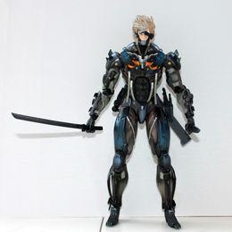 Wholesale Square Enix Play Arts - Free shipping Square Enix Metal Gear Rising Revengeance metal gear solid:rising Play Arts Kai figurine Raiden