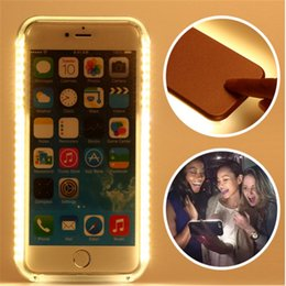 Wholesale Edge Led Lights - LED Light Up Glowing Phone Cases for iPhone 5 SE 6 6S 7 Plus Cover For Samsung S6 S7 Edge Plus Case