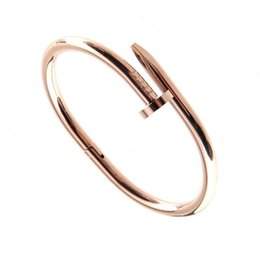 Простые браслеты онлайн-Wholesale-Simple Gold Rivet Bracelet, latest Gold Bangle Designs Fashion jewelry made in making supplies Wholesale china