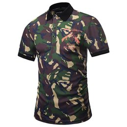 Wholesale Camouflage Graphics - 3D T shirts Camouflage POLO Shirts Men Summer Tops Print Gun Male Graphic 3d Polo Shirts