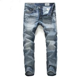 Wholesale Designer Blue Jeans For Men - British Summer Casual Men Jeans Pant Fashion Designer Men's Jeans Brand Zipper Jeans For Men Motorcycle Fashion Men Pants J170204