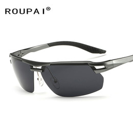 Wholesale eyewear legs - Wholesale- Brand Classic Polarized Sunglasses Aluminum Frame Leg Men Outdoor Sports Eyewear For Driving Fishing Sun Glasses RP8140