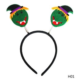 Wholesale Headband Parts - Funny Halloween Hairband Pumpkin Witch Skull Ghost Spider Stryle Girl Halloween Headband Lovely Skull Part Head Band Hair Accessories