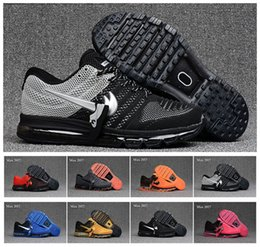 Wholesale Top Selling Cushion - Cheap max 2017 Men running shoes Hot selling Top quality maxes 2017 KPU 3 cushion sneaker for mens Newest release sneaker 40-47 Free Shippin