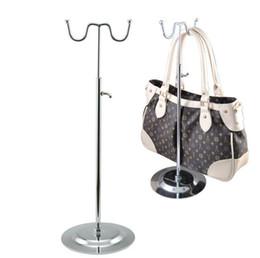 Wholesale Women Handbag Rack - 2pcs New promotion handbag display rack women bag display holder V-type adjustable satchel totebag wig purse hanger showing stand