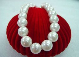 Wholesale Southsea Shell Pearl Silver - noblest 20mm southsea big white shell pearl necklaceAAA 18''