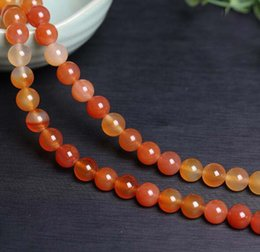 Wholesale Carnelian Bracelets - Red Agate Carnelian 8mm Round natural stone Carnelian Agate Beads For Bracelet Jewelry Making more colors for choice