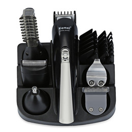 Wholesale Mustache Grooming - 6in1 Grooming kit Trimmer Hair Clipper Beard and Mustache Trimmer for Men Nose Ear Trimmer Body Electric Cutter Hair Cutting Machine Shaving