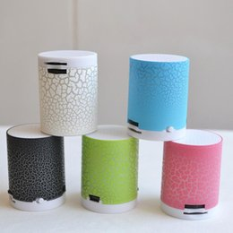Wholesale Cheapest Portable Speakers - Wholesale- Bluetooth Mp3 Player LED Portable Mini Bluetooth Speakers Wireless Hands Free Speaker With TF Cheapest Mp3 Player