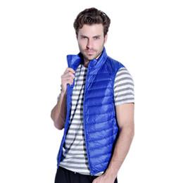 Wholesale Sleeveless Coats For Men - Wholesale- Men's vests sleeveless 100% white duck down jacket man 2016 casual vests for men jacket male coat