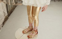 Wholesale Kid Girls Leather Trousers - Fashion Wholesale Girls Leather Trousers Leggings For Kids Summer Kids Skinny Trousers Girls Tights pants Leggings Wear Girls Clothes A840