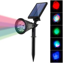 Wholesale Auto Spot Light Solar - Wholesale- High Power Solar Power LED Lawn Light IP65 Waterproof Outdoor Garden Path Spot Lamp Colorful RGB Auto On