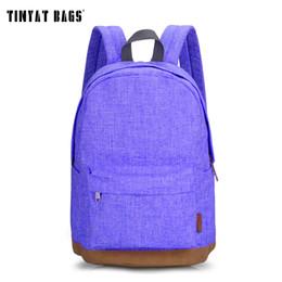 Wholesale Pink Laptops For Girls - Wholesale- TINYAT Canvas School Backpack Student Casual Women Men backpacks for teenage Laptop Rucksacks for girls Travel Bag T101 Mochia