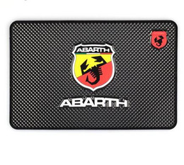 Wholesale Glue For Car Interior - Car Styling Non-Slip Mat Case For Fiat Punto Abarth 500 124 Stilo Ducato Palio Badge Emblems Interior Accessories Car Styling