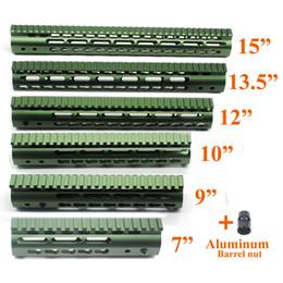 2019 barili verdi Verde oliva anodizzato 7,9,10,12,13,5,15 '' pollici Keymod Protezione per corrimano Sistema di montaggio Picatinny per barche sconti barili verdi