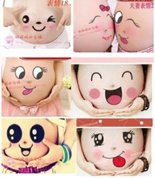 Wholesale Pregnancy Props - Wholesale- Free shipping For pregnant women therapy maternity photo props Pregnancy photographs belly painting photo stickers 25 style