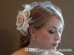 Wholesale Bridal Birdcage Hats - New Bride Accessories including bridal Hats weddings events Fabric Netting Hot Sale Formal Occasion Kids Bridal Veils Suruimei