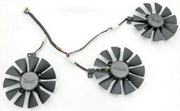 tarjeta grafica r9 Rebajas Nuevo reemplazo original Everflow 88MM T129215SU PLD09210S12HH para ASUS strix Raptor GTX980Ti R9 390X R9 390 RX 480 Tarjeta de video Ventilador Ventilador