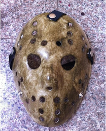 Wholesale Jason Face - 100pcs More Type Black Friday NO.13 Jason Voorhees Freddy hockey festival party Halloween masquerade mask (adult size) 100gram