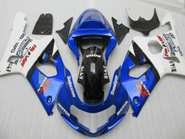 Wholesale Blue Fairing Kit For Suzuki - Bodywork Fairings for Suzuki GSXR1000 2000 2001 2002 fairing kit blue white GSXR 1000 00 01 02 XH21