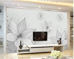 d estreo rayas flores mural d papel tapiz d papeles de pared para tv teln de fondo