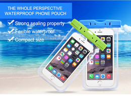 Wholesale Clear Necklace Bags - Universal Clear Waterproof Pouch Dry Bag with Armband Necklace for iphone 7S   7 Plus for Samsung S8 Edge