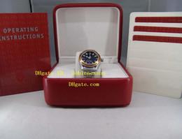 Wholesale Watch Orange Bezel - Original Box New Luxury Watch Top Quality PLANET OCEAN 600m 2000ft Orange Bezel 2209.50.00 Co-axial Automatic Men's Watches