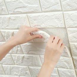 Wholesale Kids Brick Wallpaper - 30x70cm 70x77cm PE Foam colorful 3D Wall paper Safty Home Decor Wallpaper DIY Brick Pattern Stickers Kids Bedroom Decorative wall Sticker