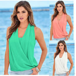 Wholesale Elegant Tops For Ladies - Fashion Solid Women Casual V Neck Long Sleeve Elegant Chiffon Shirt Summer Plus Size Tops For Office Ladies Free Shipping