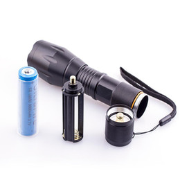 Wholesale rechargeable T6 L2 LED Torches light with gift package CREE XM L L2 Aluminum Waterproof Zoomable Flashlight led Torch light