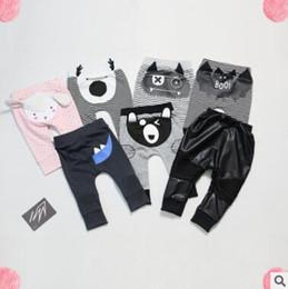 Wholesale Newborn Bottoms - Bottom Harem Pants 2017 Spring Cotton PP Pants Trousers Baby Boys Girls Newborn Infant Animal Pant Baby Boys Girls Pants Casual Leggings