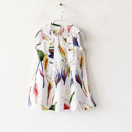 Wholesale Cute Line Skirts - 6 color hot selling Korean style 2017 new arrival girl summer cute larger Flower butterfly printting vest Bourette silk skirt free shipping