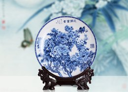 Wholesale Porcelain Tile Wall - Porcelain of Jingdezhen & Chinese Style Blue and White Porcelain & Tile Plate & Wall Hanging Plate and Home Decoration
