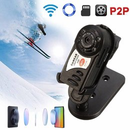 Wholesale Wireless Camera Dvr Recorder - Mini DV P2P WiFi IP Camera Wireless DV DVR Hidden Spy Camera Video Recorder Security For IOS Android Phone PC Remote View Q7