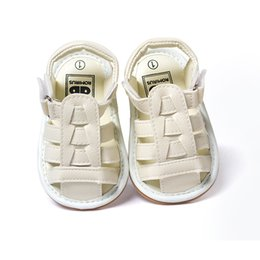 Wholesale Weave Baby Shoes - Wholesale- Baby Infant Toddler Summer Weaved Shoes Soft Kid Boys Girls PU Gladiator First Walkers 0-18 Months